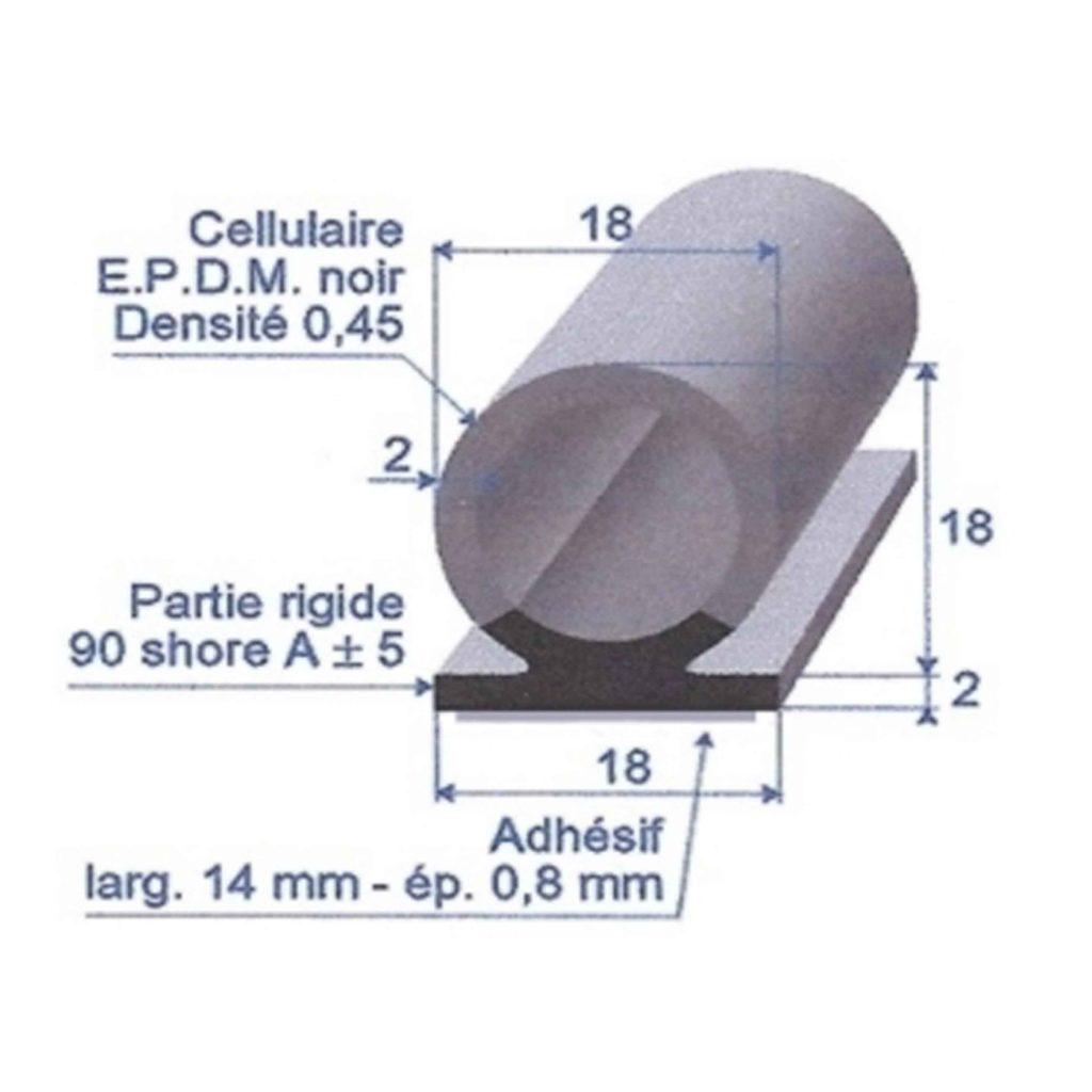 EPDM_CELLULAIRE_NOIR_ADHESIVE_BI_DURETE_ROULEAU_DE_50M_REF_6933697_BSB_CAOUTCHOUCS_PLASTIQUES